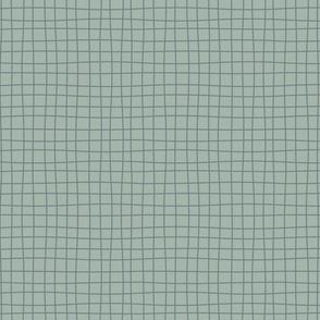 Messy lines - dark blue over light blue