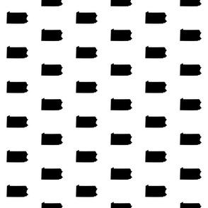 """Pennsylvania silhouette,  3"""" square, black and white"""