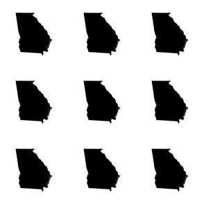 """Georgia silhouette in 6"""" square - black and white"""