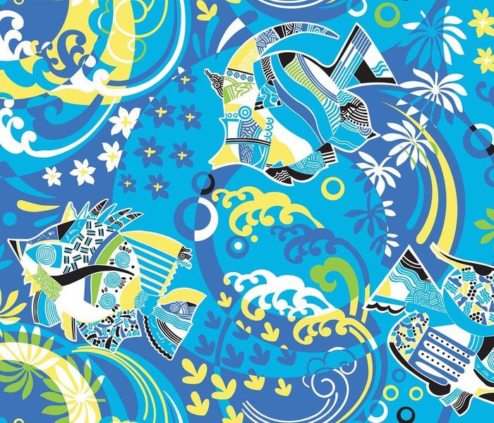 Blue Lagoon-Modern Tropical Marine life