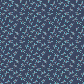 Butterfly Scatter Navy and Aqua