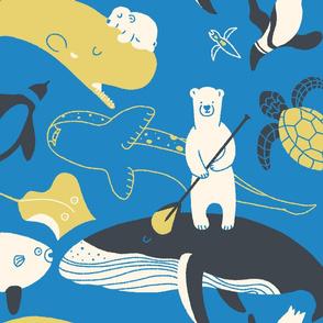 Polar bear with paddle_world waterways