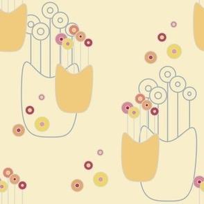 Lollipop Flowers on light yellow