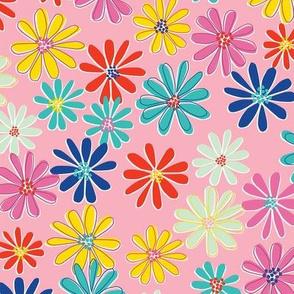 Retro Daisy Pink-nanditasingh