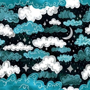 Midnight Rainclouds - Silver Lining - Small Scale