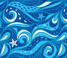 Blue sea waterways