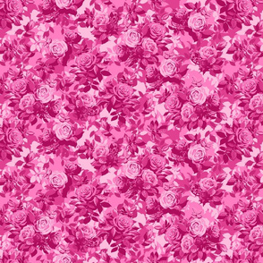 Camo Rose - small scale - pink