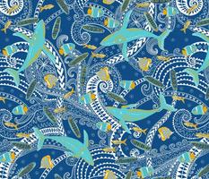 "Ocean Tribe (classic blue) 18"""