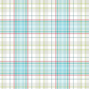 pastel and gray plaid