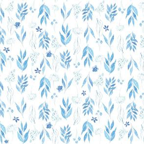 Blue watercolour botanicals