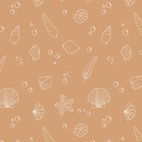 Seashells in caramel