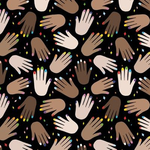 I see love unite and pride sweet lgbtq gay nail polish and inclusive teach love hands on black