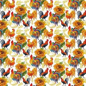 sunflower rooster seamless final