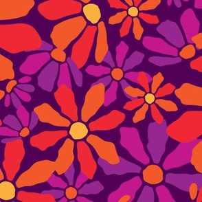 Large_Flirty Floral _Purple_Laura Wayne Design