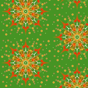 Tangerine Dream Sparkle Mandala