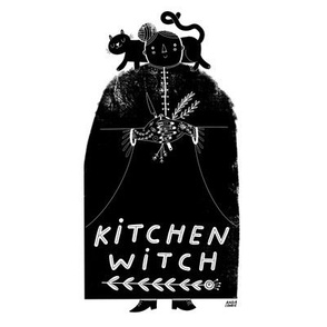 Kitchen Witch 8x8in squares