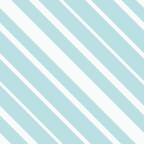 Diagonal stripes in white and light blue