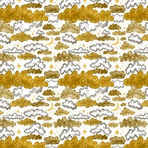 Starry Rainclouds - Mustard Gold