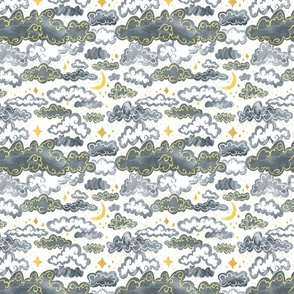 Starry Rainclouds - Grey Gold