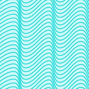 Modern geometric Waves Teal background