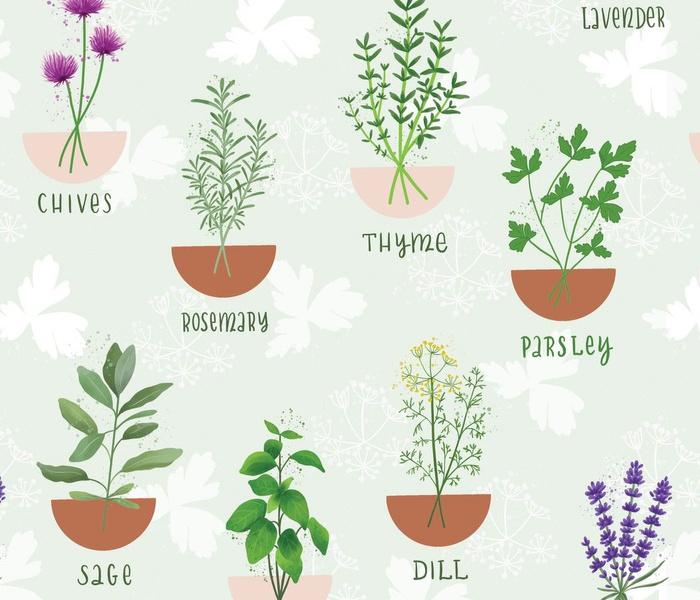 Herb Pattern FLAT