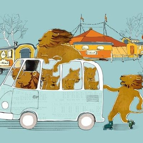 Lions on the Bus