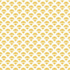 336 small scale fleur de lis orange white classic playful cottage core french terriconraddesigns