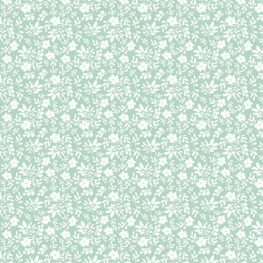 336-4 soft blue white painterly floral girly feminine playful youthful cottage farmhouse modern floral cottage core TerriConradDesigns