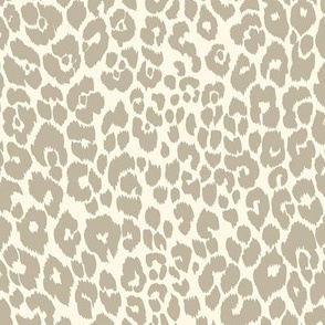 The Leopard's Spots Collection-Mid Century Modern Animal Pattern-Soft Grey Regular Scale