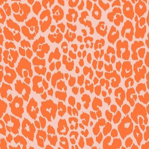 The Leopard's Spots Collection-Mid Century Modern Animal Pattern-Peach Orange Regular Scale