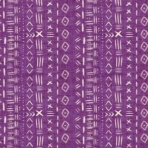 Smaller Scale Purple Mudcloth