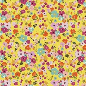 hello sunshine small scale boho chic floral bright modern floral rifle paper co terriconraddesigns