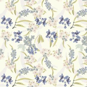 FF pat 2 small scale periwinkle lavender florals romantic feminine florals terriconraddesigns