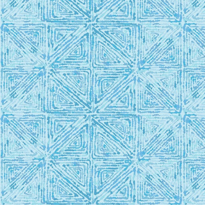 Watercolor Summer Vibes-Watercolor Organic Geometric Shapes-Soft Blue Regular Scale