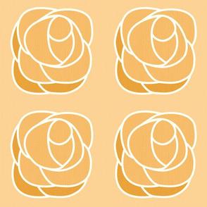 Jumbo Art Deco rose - caramel