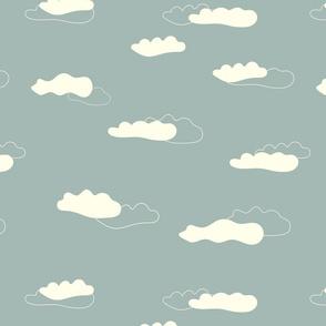 Clouds on grey sky