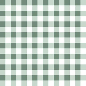 1/2in Gingham Plaid Pattern - Sage (coordinates with soft meadow floral)
