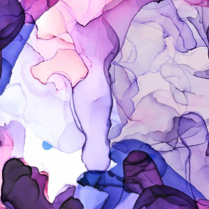 Purple Alcohol Ink Abstract