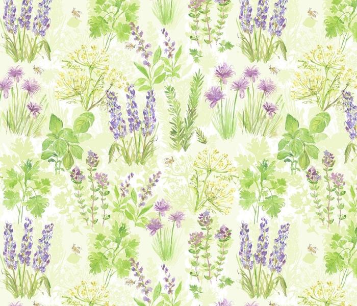 flowering herb garden