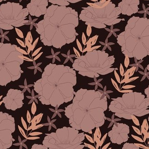 Idyllic Bloom in Charcoal