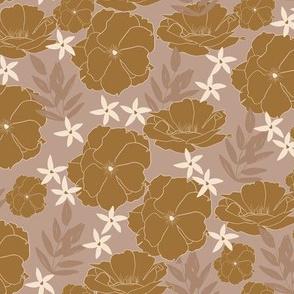 Idyllic Bloom in Golden