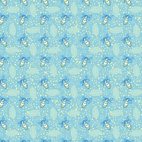 Graphic Leaves on Yellow