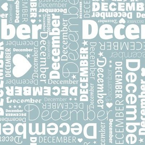 December holiday season christmas and happy new year design typography ice blue