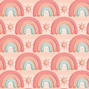 Rainbows and Sunshine_Coral_Laura Wayne Design