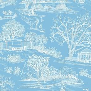 Austin Toile - Calm Blue
