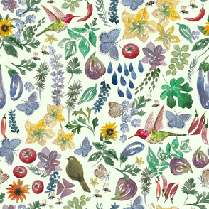 Leanne's garden watercolor