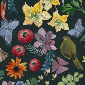 Leanne's garden watercolor dark