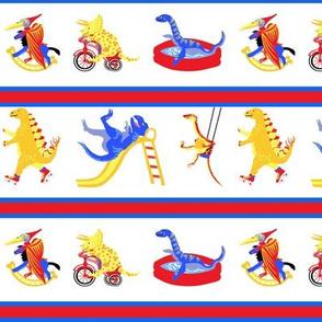 Dinosaur Playground Stripe 2