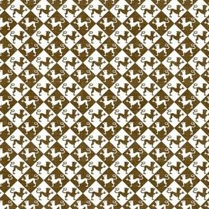 Medieval Lion Checkerboard