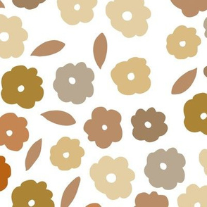 chamomile floral - all the warm tones